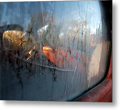 Side View Into The Past Metal Print by Steven Milner