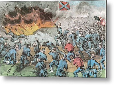 Siege And Capture Of Vicksburg, 1863 Metal Print by Photo Researchers