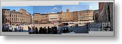 Siena Italy - Piazza Del Campo Metal Print by Gregory Dyer