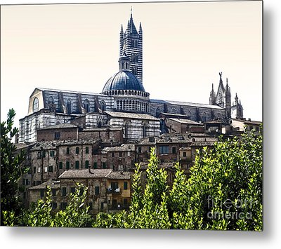 Siena Italy - Siena Cathedral -02 Metal Print by Gregory Dyer