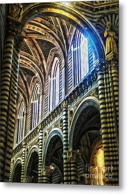 Siena Italy - Siena Catheral Metal Print by Gregory Dyer