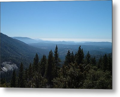 Sierra Nevada Mountains Metal Print by Naxart Studio