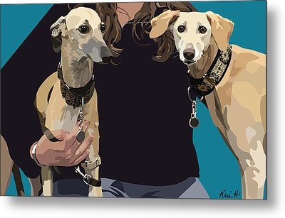 Sighthounds Metal Print by Kris Hackleman