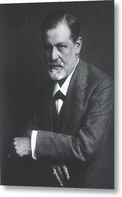 Sigmund Freud 1856-1939, With Arms Metal Print by Everett