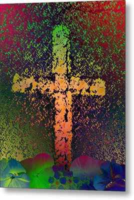 Metal Print featuring the photograph Sign Of The Cross by David Pantuso