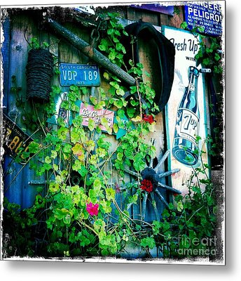Metal Print featuring the photograph Sign Wall by Nina Prommer