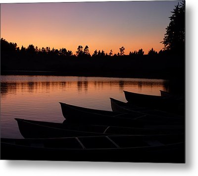 Silence Of Lake Bradley Reflections Metal Print by Cindy Wright