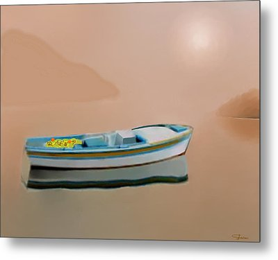 Silent Sea Metal Print by Larry Cirigliano