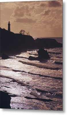 Silhouette Of Lighthouse Metal Print by Craig Tuttle