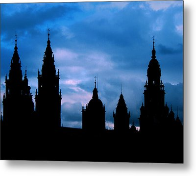 Silhouette Of Spanish Church Metal Print by Jasna Buncic