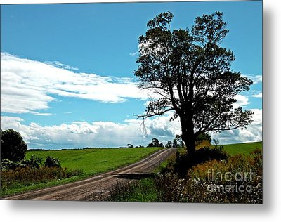 Metal Print featuring the photograph Silhouette On A Country Road by Christian Mattison