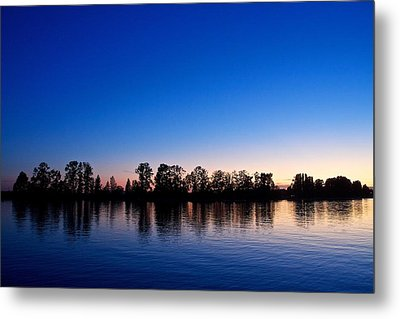 Silhouette Tree Line Metal Print by Scott Holmes