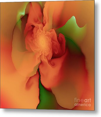 Silk Rose Metal Print by Michelle H
