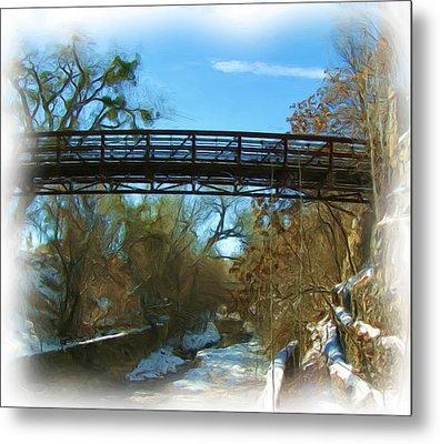 Silver City Big Ditch In Winter Metal Print by FeVa  Fotos