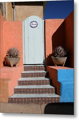 Silver City Doorway Metal Print by FeVa  Fotos