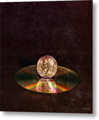 Silver Dollar Metal Print by Peter Chilelli