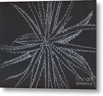 Silver Star Metal Print