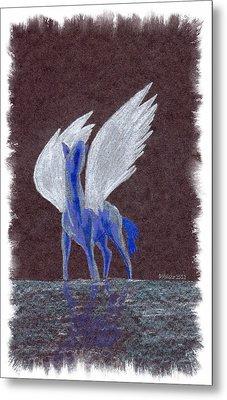 Silver Wings Metal Print by Mark Schutter