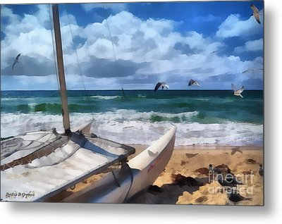 Metal Print featuring the digital art Simple Pleasures II by Rhonda Strickland