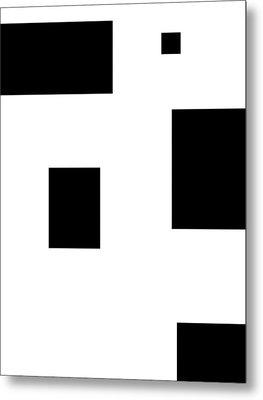 Simply Black Blocks Sbb Metal Print by Steve K