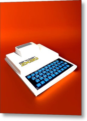 Sinclair Zx80 Personal Computer Metal Print by Christian Darkin