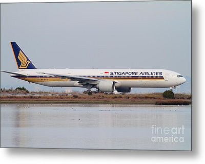 Singapore Airlines Jet Airplane At San Francisco International Airport Sfo . 7d12142 Metal Print by Wingsdomain Art and Photography