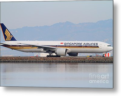 Singapore Airlines Jet Airplane At San Francisco International Airport Sfo . 7d12145 Metal Print by Wingsdomain Art and Photography