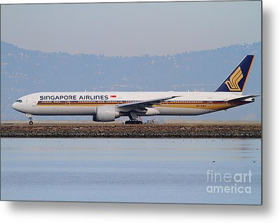 Singapore Airlines Jet Airplane At San Francisco International Airport Sfo . 7d12163 Metal Print by Wingsdomain Art and Photography