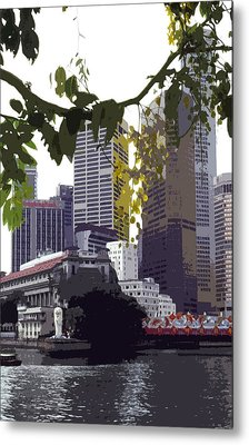 Singapore ... The Lion City  Metal Print by Juergen Weiss