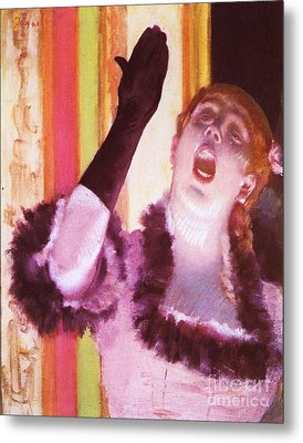 Singer With The Glove Metal Print by Pg Reproductions