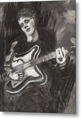 Metal Print featuring the drawing Singing Sad Songs by Denny Morreale