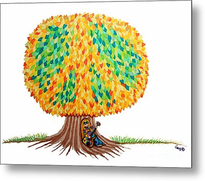 Singing Under The Peace Tree Metal Print by Nick Gustafson