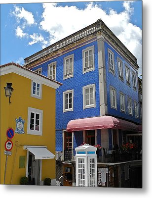 Metal Print featuring the photograph Sintra Portugal Buildings by Kirsten Giving