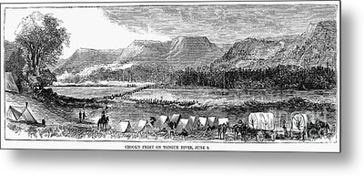 Sioux War: Tongue River Metal Print by Granger