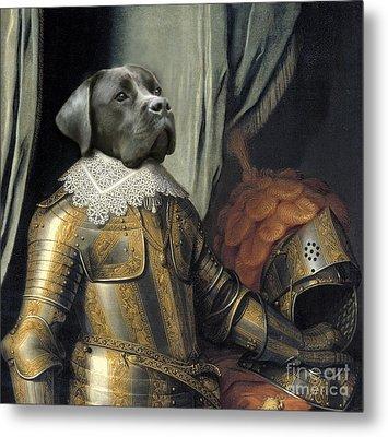 Sir Dog Metal Print by Digit Art Mariel Everling