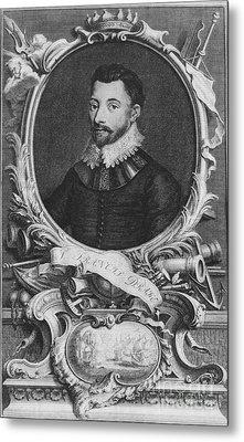 Sir Francis Drake, English Explorer Metal Print by Photo Researchers, Inc.
