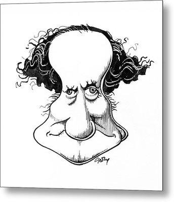 Sir Richard Owen, Caricature Metal Print by Gary Brown
