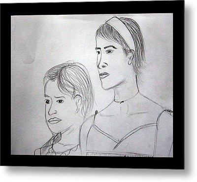 Sisters Metal Print by Suneel Jain