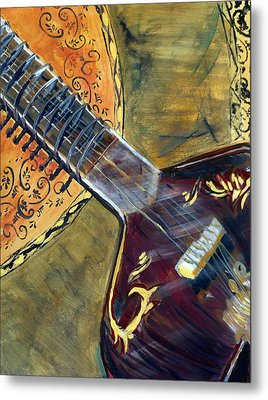 Metal Print featuring the painting Sitar 2 by Amanda Dinan