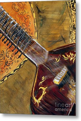 Metal Print featuring the painting Sitar 3 by Amanda Dinan