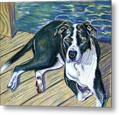 Metal Print featuring the painting Sittin' On The Dock by D Renee Wilson