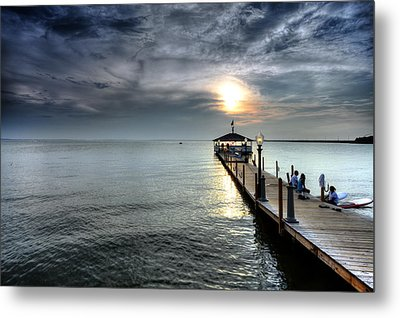 Sittin On The Dock Of The Bay Metal Print by Edward Kreis