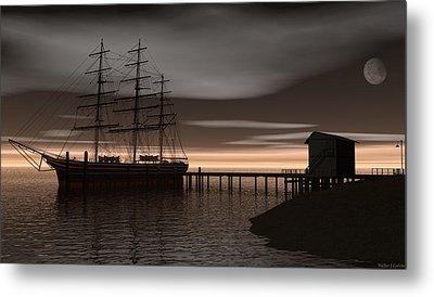 Metal Print featuring the digital art Sitting At The Dock Of The Bay by Walter Colvin