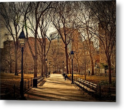 Sitting In The Park Metal Print by Kathy Jennings