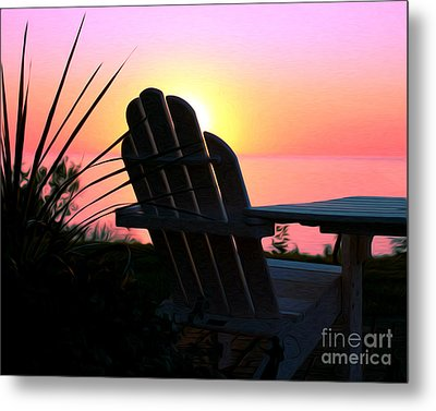 Sitting On The Shore Metal Print
