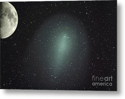Size Of Comet Holmes In Comparison Metal Print by Rolf Geissinger