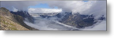 Metal Print featuring the photograph Skaftafell Panorama by Rudi Prott