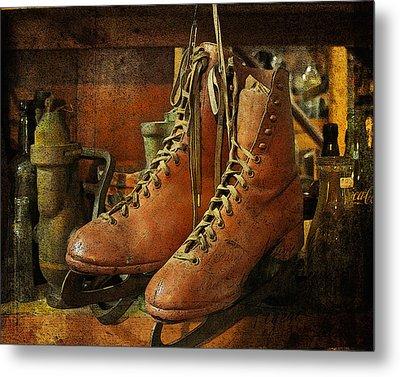 Metal Print featuring the photograph Skates by Karen Lynch