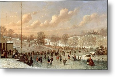 Skating Scene Metal Print by Johann Mongels Culverhouse