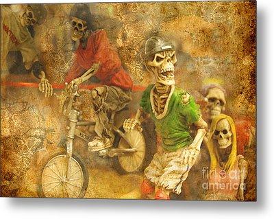 Skeleton Crew Metal Print